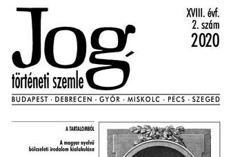 Jogtörténeti Szemle 2020/2.