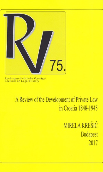 Rechtsgeschichtliche Vorträge / Lectures on Legal History