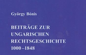 Megjelentek Bónis György válogatott munkái német nyelven