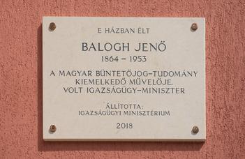 Emléktáblát kapott Balogh Jenő, egyetemünk egykori tanára és dékánja