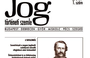 Jogtörténeti Szemle 2019/1.