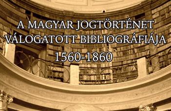 Jogtörténeti Bibliográfiák