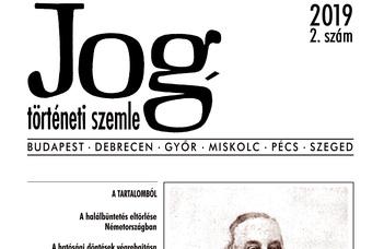 Jogtörténeti Szemle 2019/2.