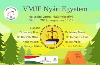 VMJE Nyári Egyetem 2019