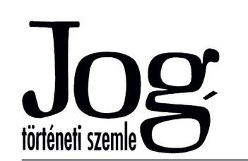 Jogtörténeti Szemle 2020/3.