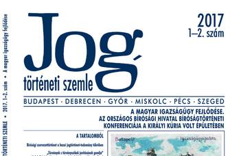 Jogtörténeti Szemle 2017/1-2.